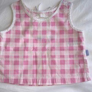 NWT DKNY Kids Pink Gingham Top